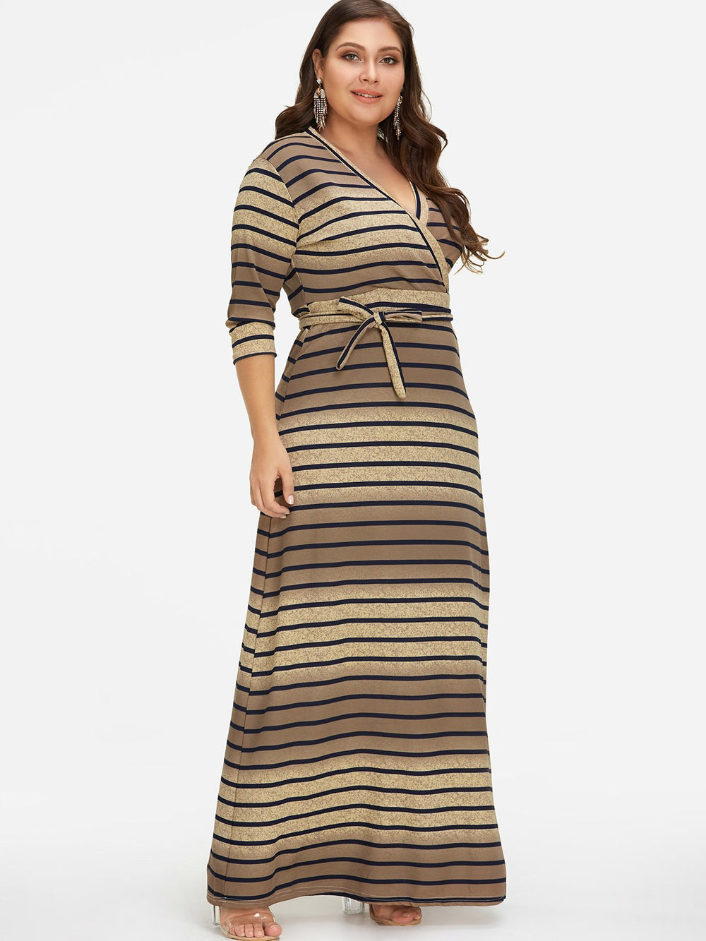 Ladies Khaki Plus Size Dresses