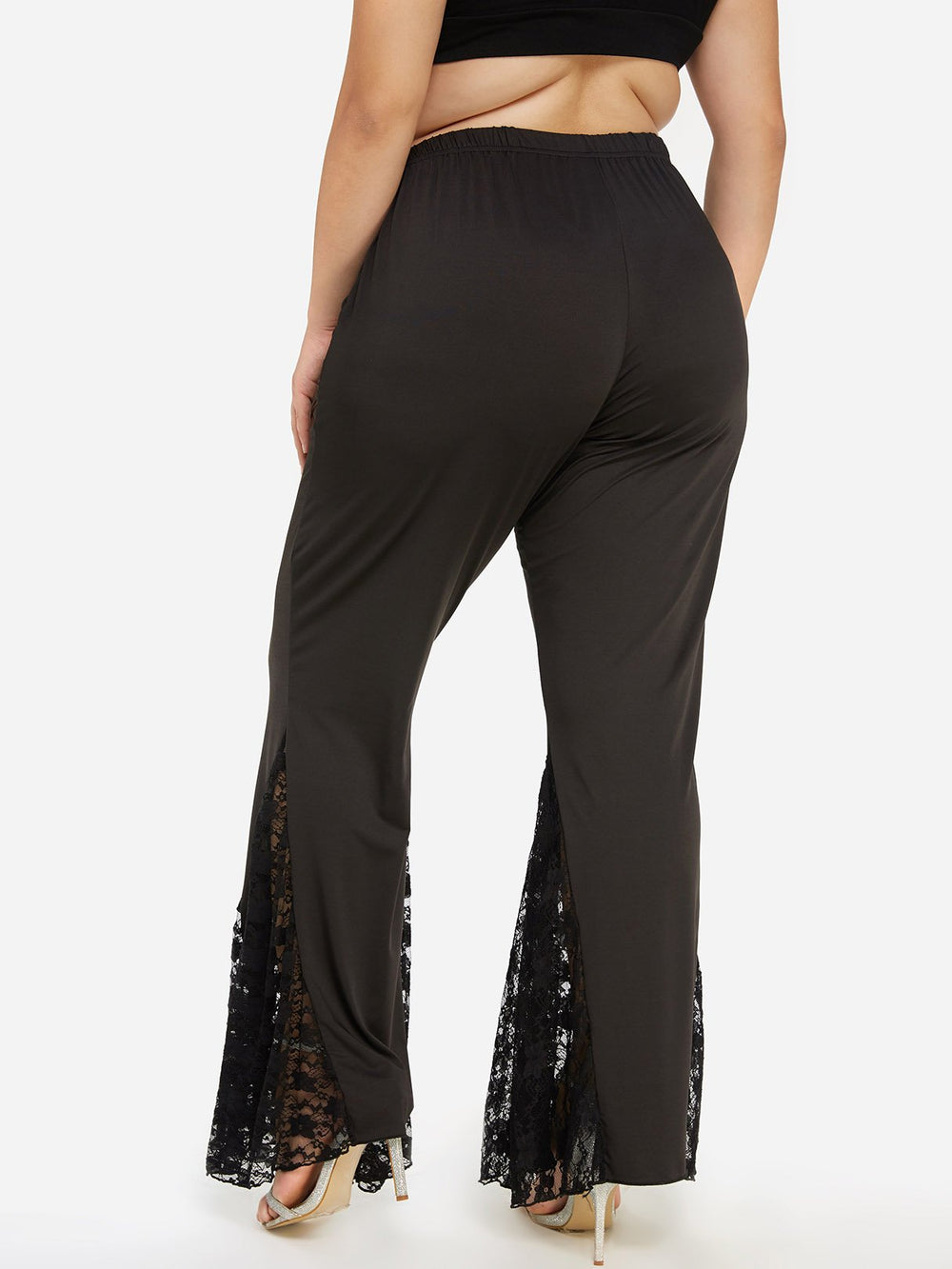 Ladies Black Plus Size Bottoms