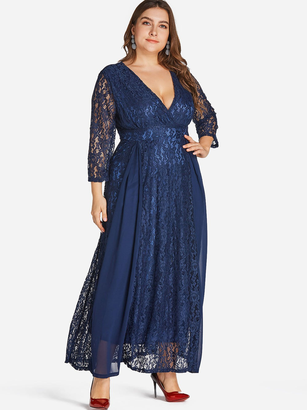 A Line Evening Dresses Plus Size