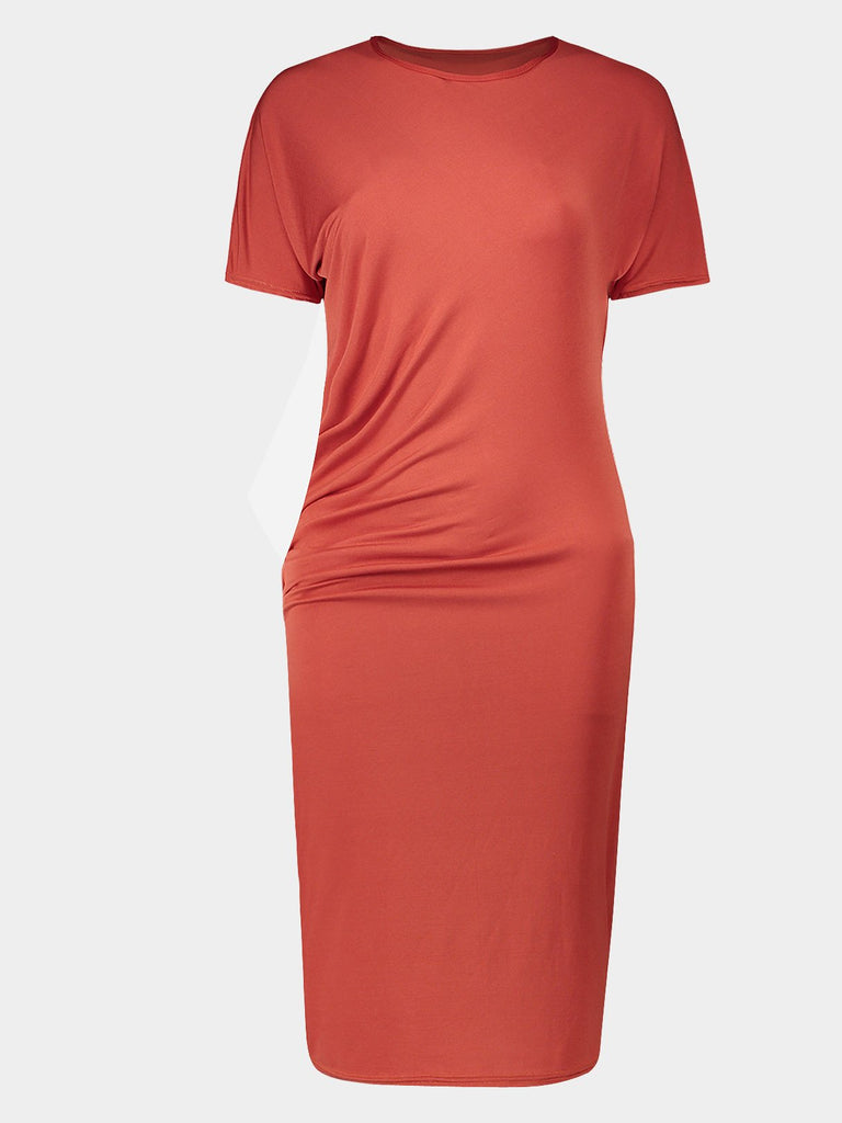 Womens Orange Bodycon Dresses