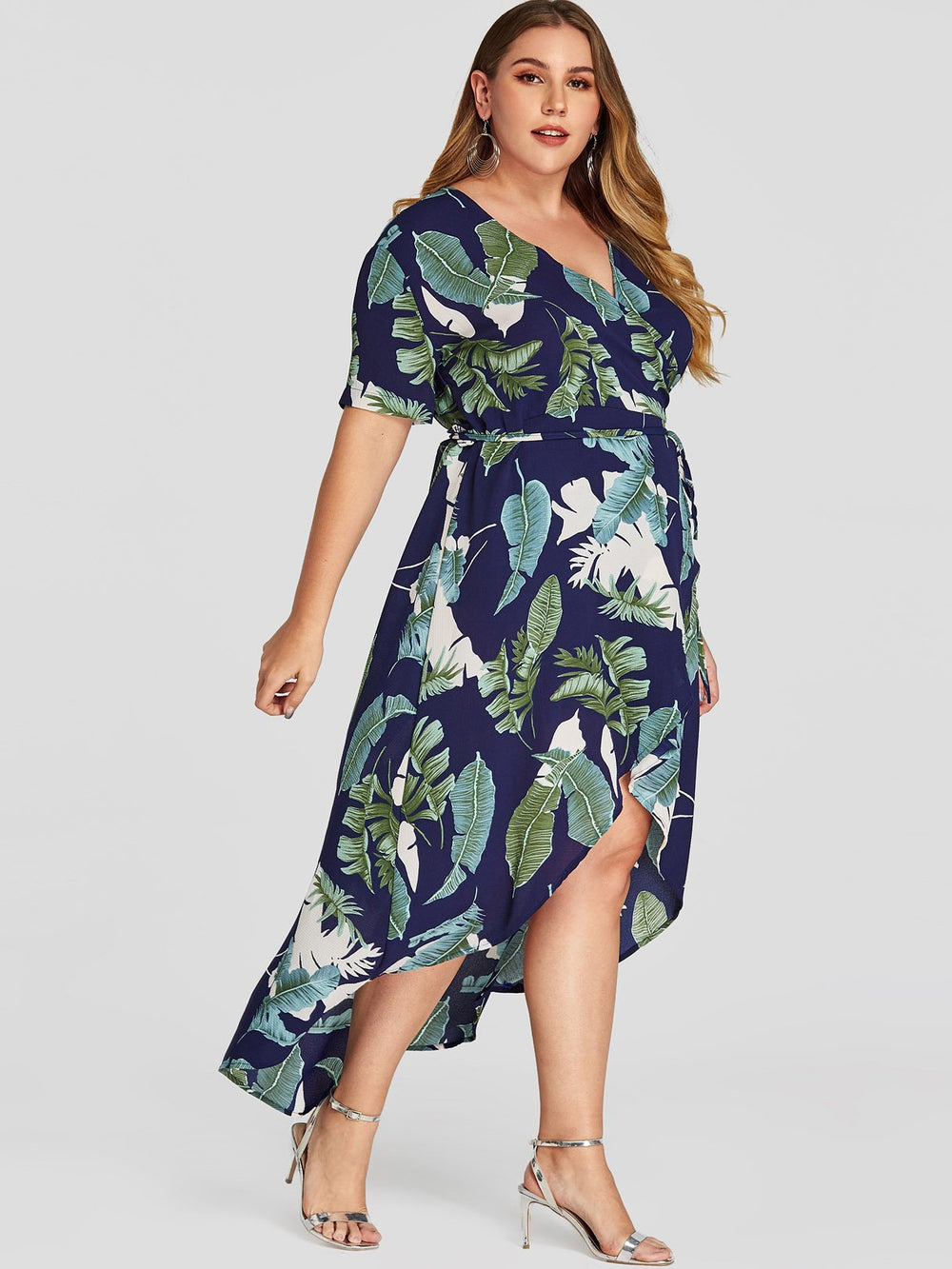 Ladies Navy Plus Size Dresses