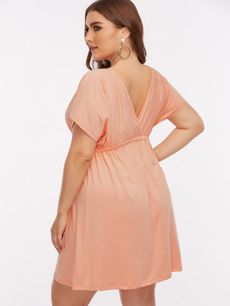 Womens Light Pink Plus Size Dresses