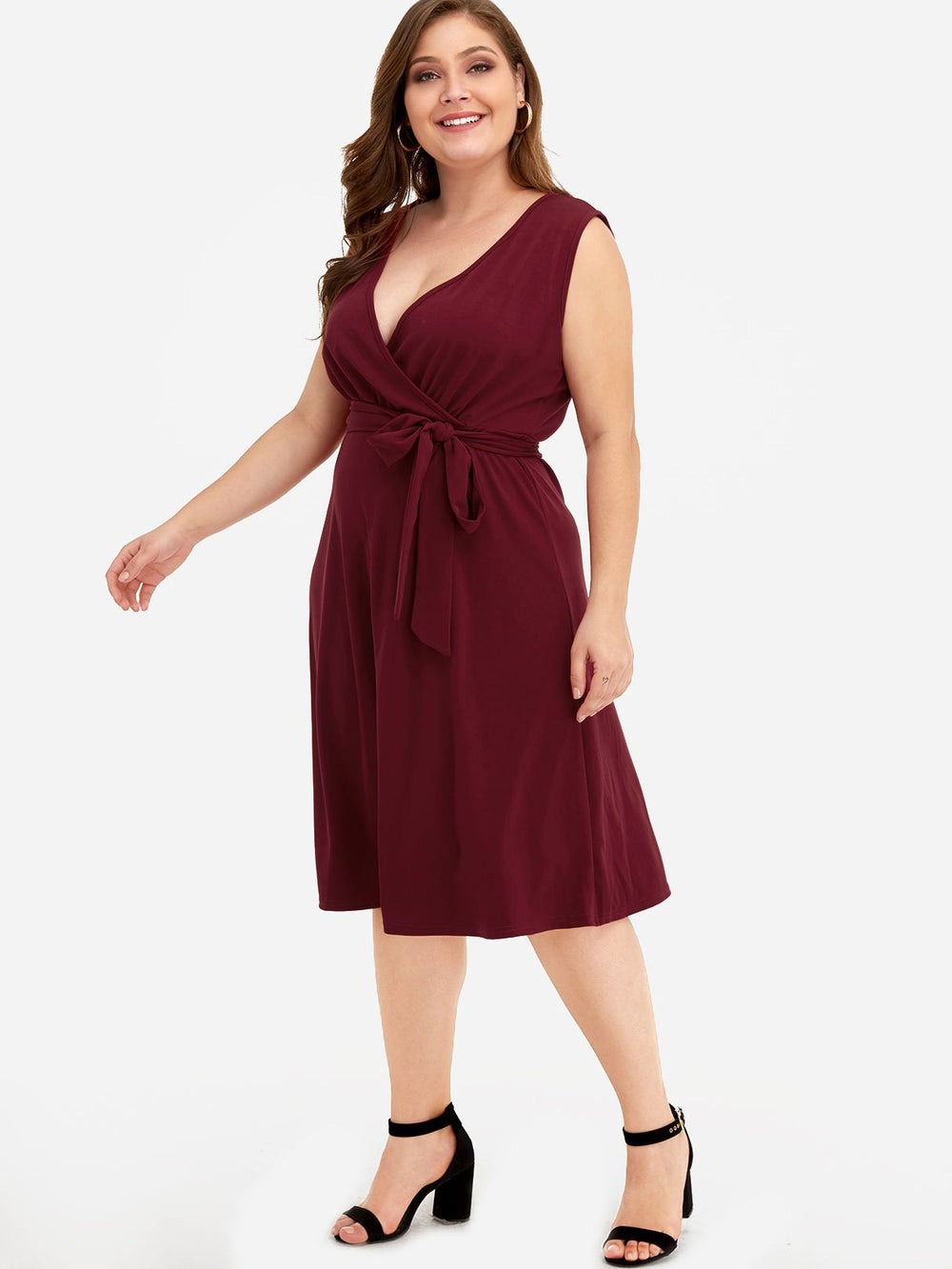 Ladies V-Neck Plus Size Dresses