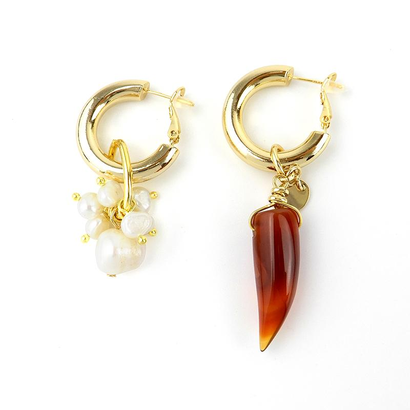 Best Handmade Statement Mismatched Pearl Earrings