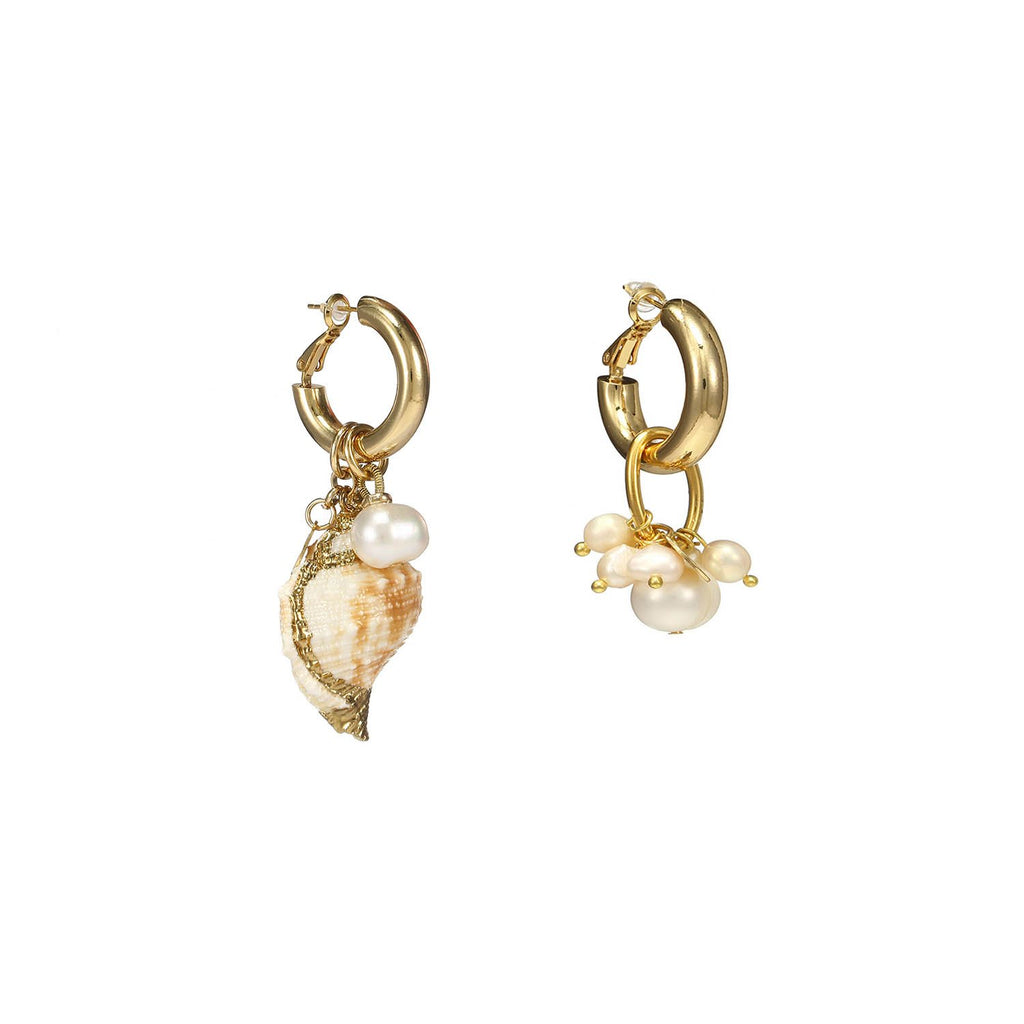 Best Handmade Cute Sea Snail Mismatched Earrings