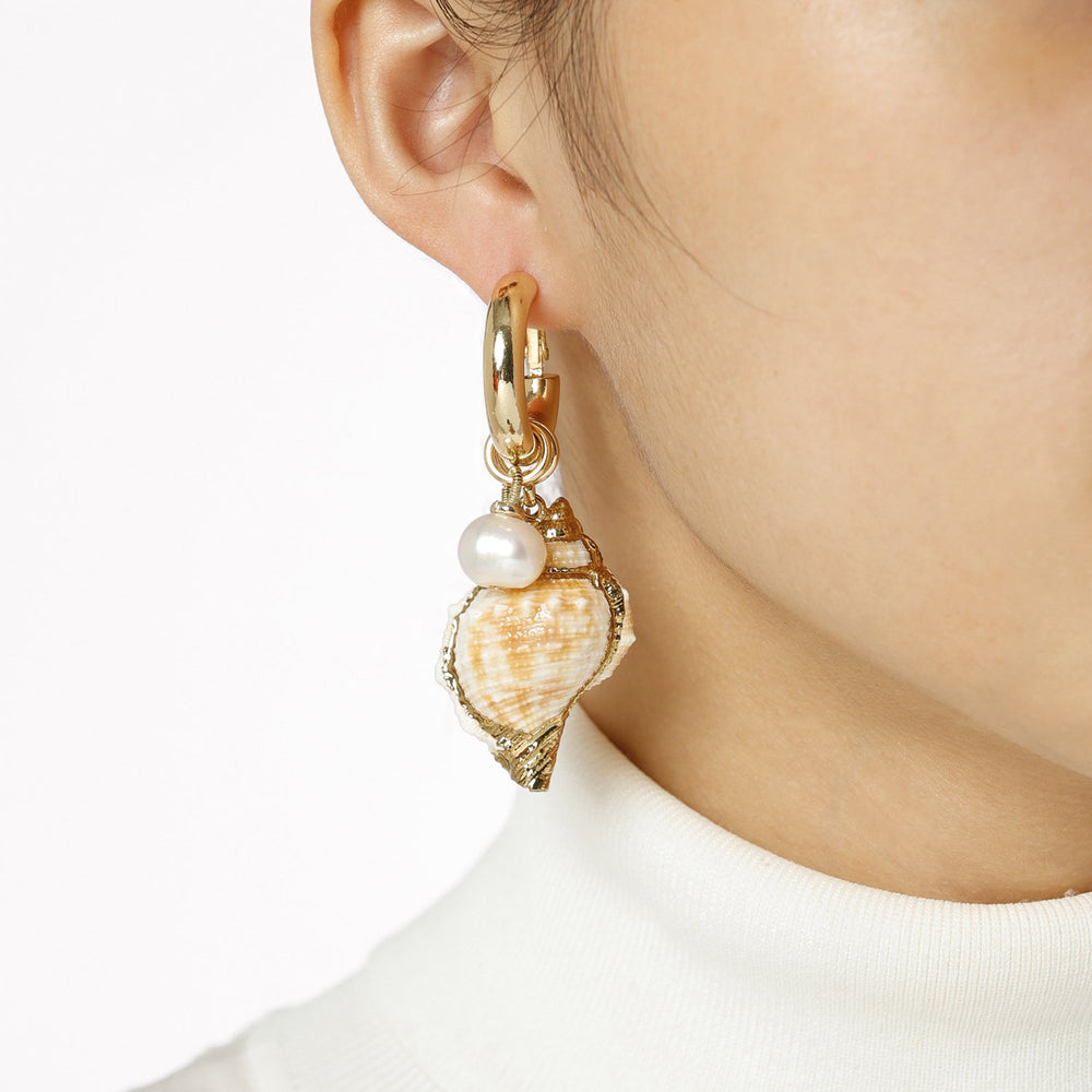 Discount Handmade Cute Sea Snail Mismatched Earrings