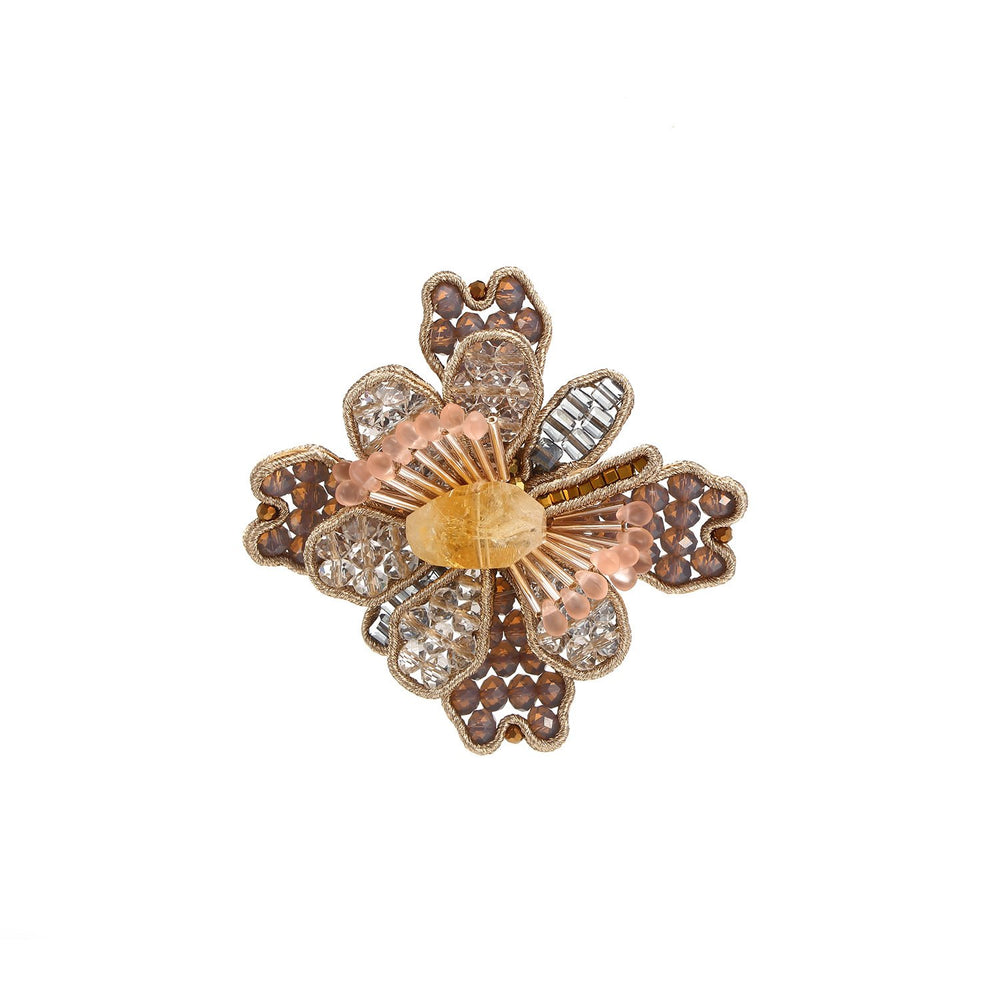 Unique Handcrafted Flower Oversized Ring