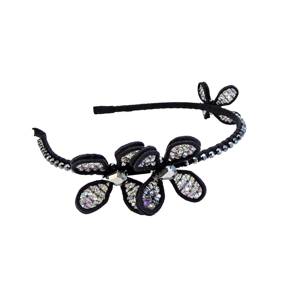 Headband Black And Black Diamond