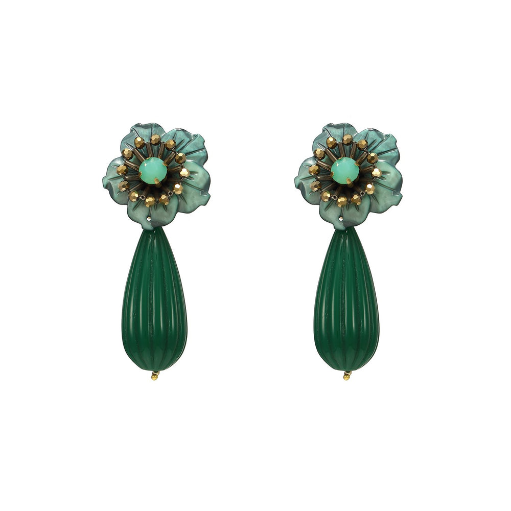 Best Handmade Cute Drop Flower Statement Earrings