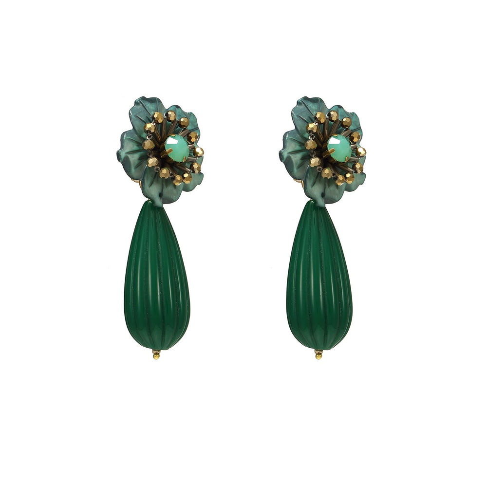 Cute Drop Flower Statement Earrings