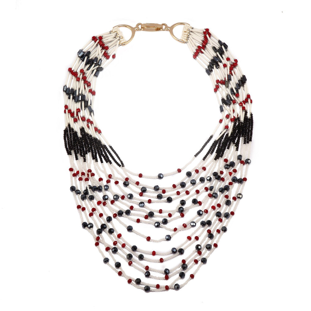 Luxurious Beaded Statement Handcrafted Necklace