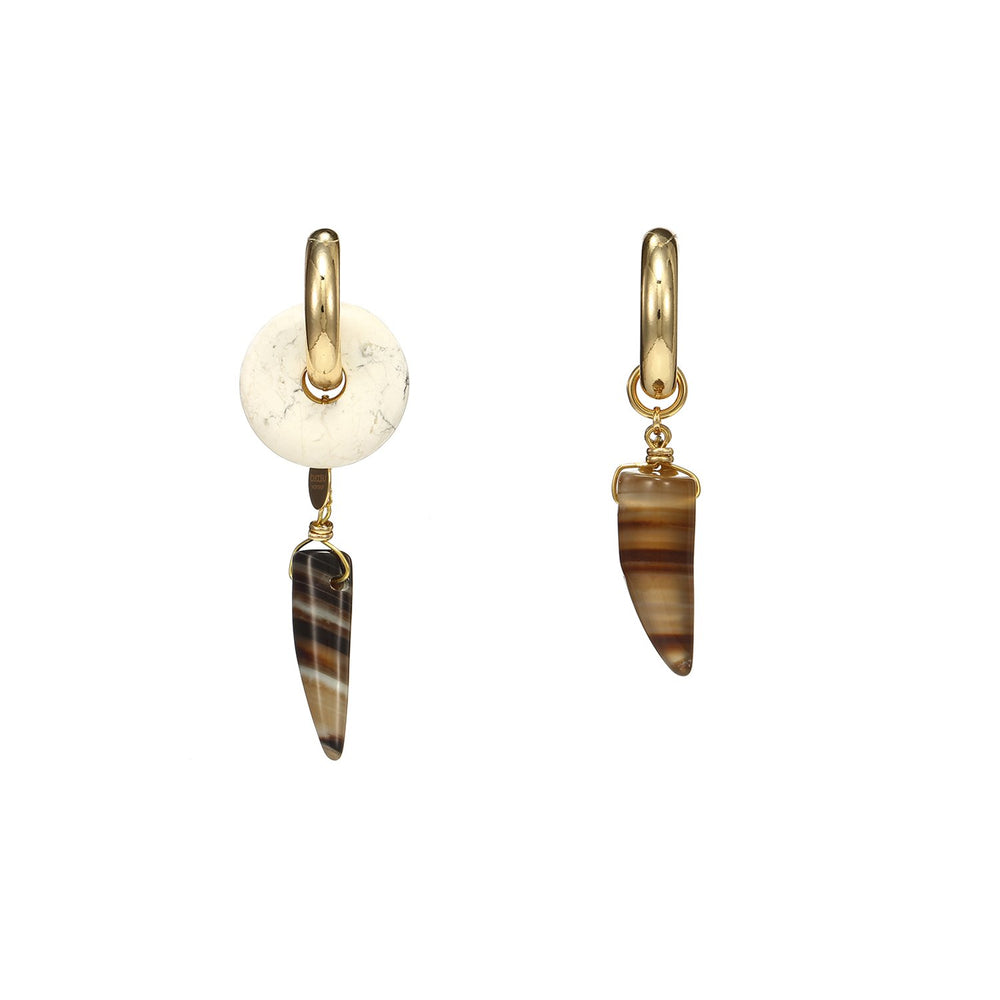 Discount Handmade Drop Chilli Agate Mismatched Earrings
