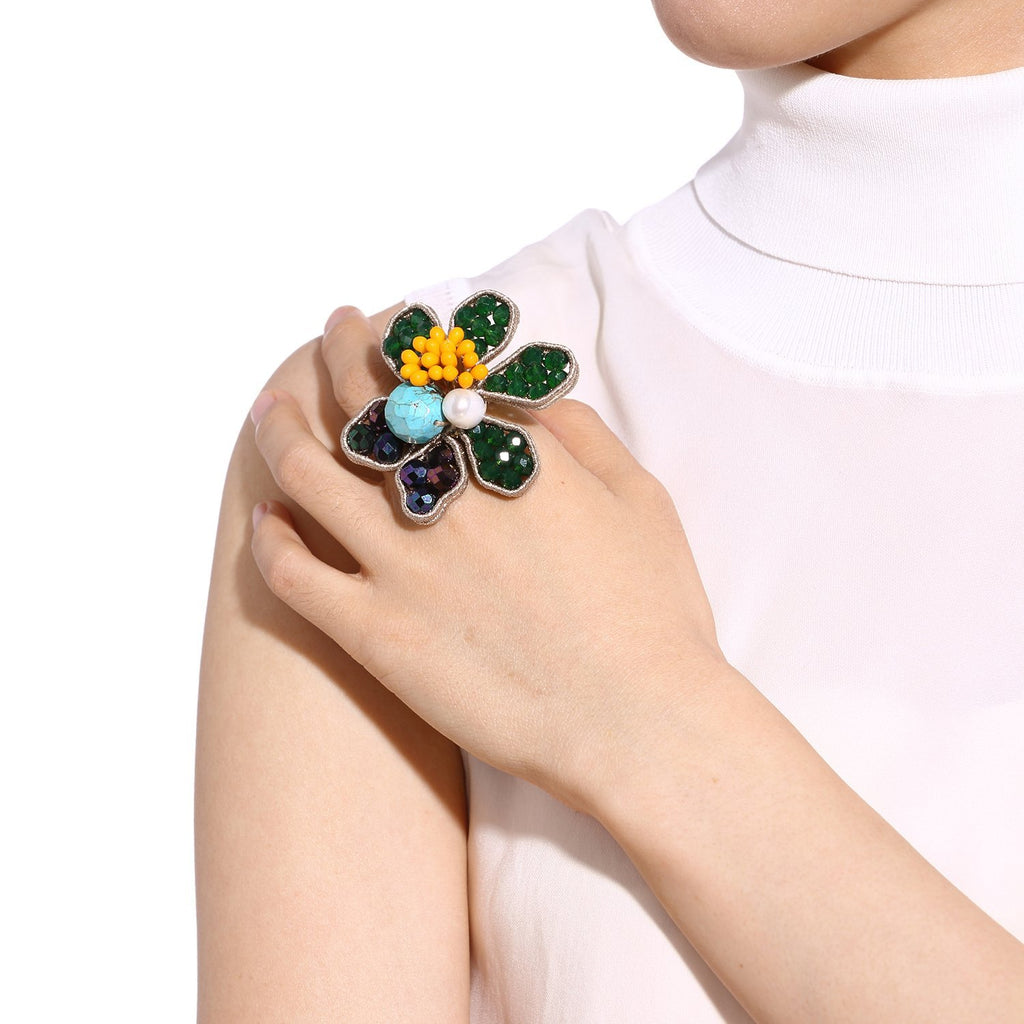 Over Sized Flower Ring