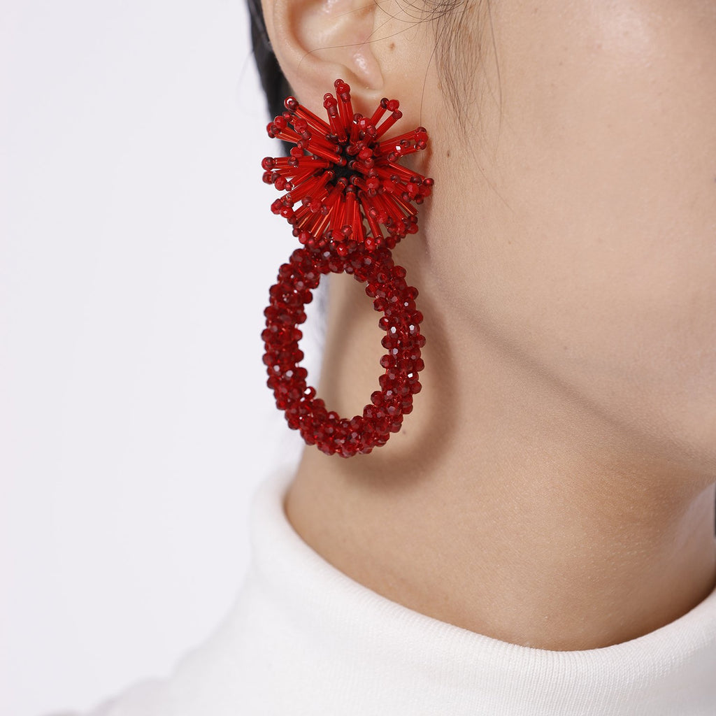 Best Handmade Flower Shaped Big Hoop Earrings