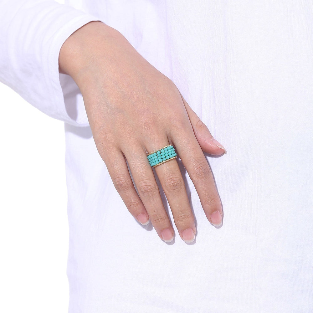 Playful Stackable Beaded Ring