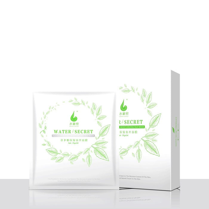 WoWo Water Secret Tea Polyphenols Moisturizing Silk Mask