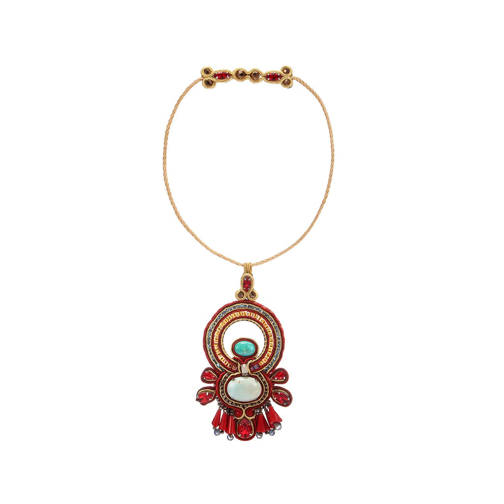 Beautiful Soutache Braiding Ethnical Handmade Necklace