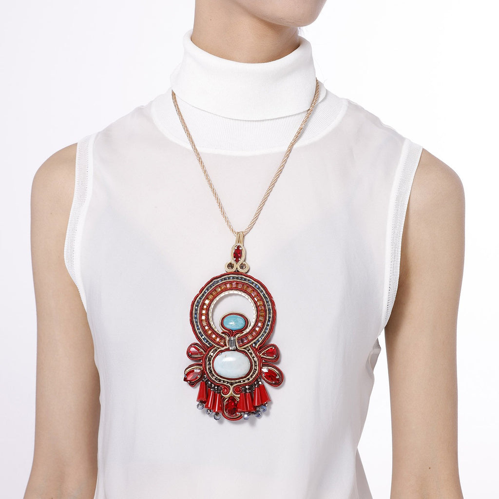 Soutache Braiding Ethnical Necklace