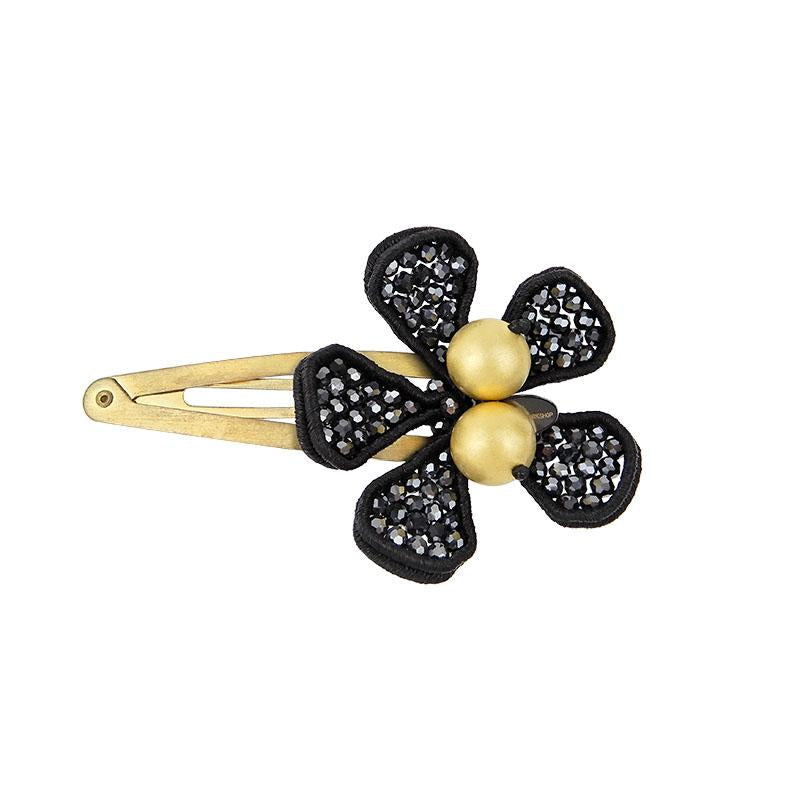 Soutache Floral Handcrafted Hair Pin Womens Gothic Jewellery