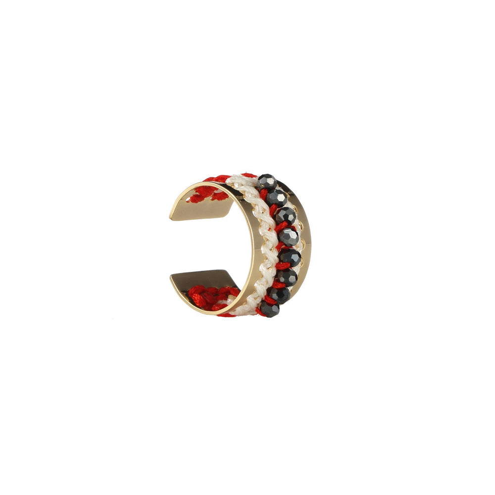 Stackable Bead Embroidered Handmade Jewelry Ring
