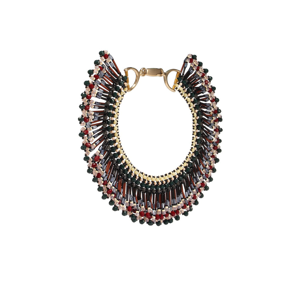 Tribal Fringed Statement Handmade Necklace
