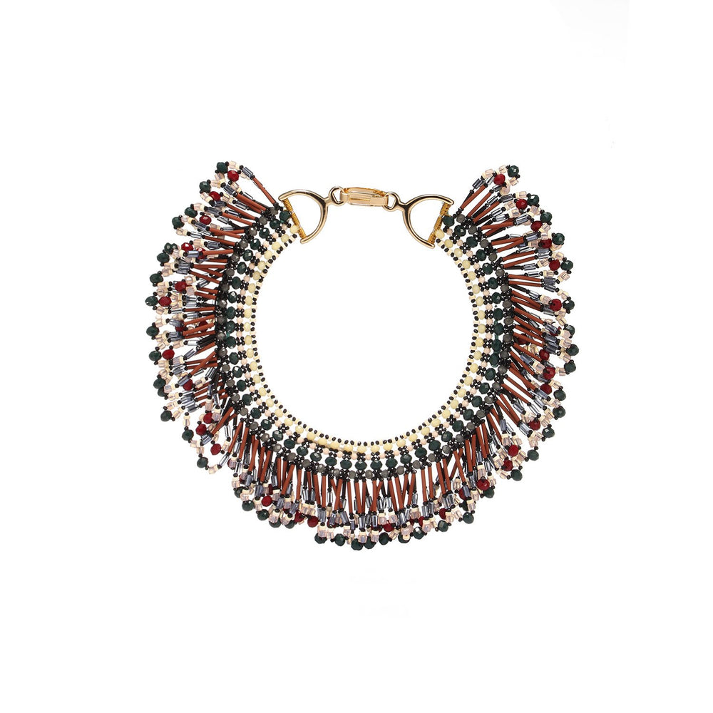 Tribal Tassel Statement Handcrafted Necklace
