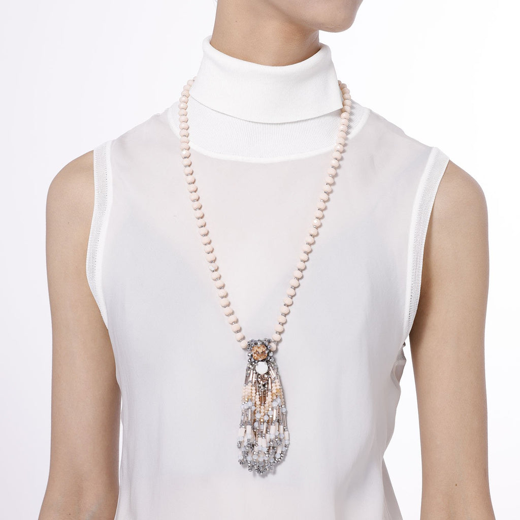 Y Shaped Necklace with Tassel