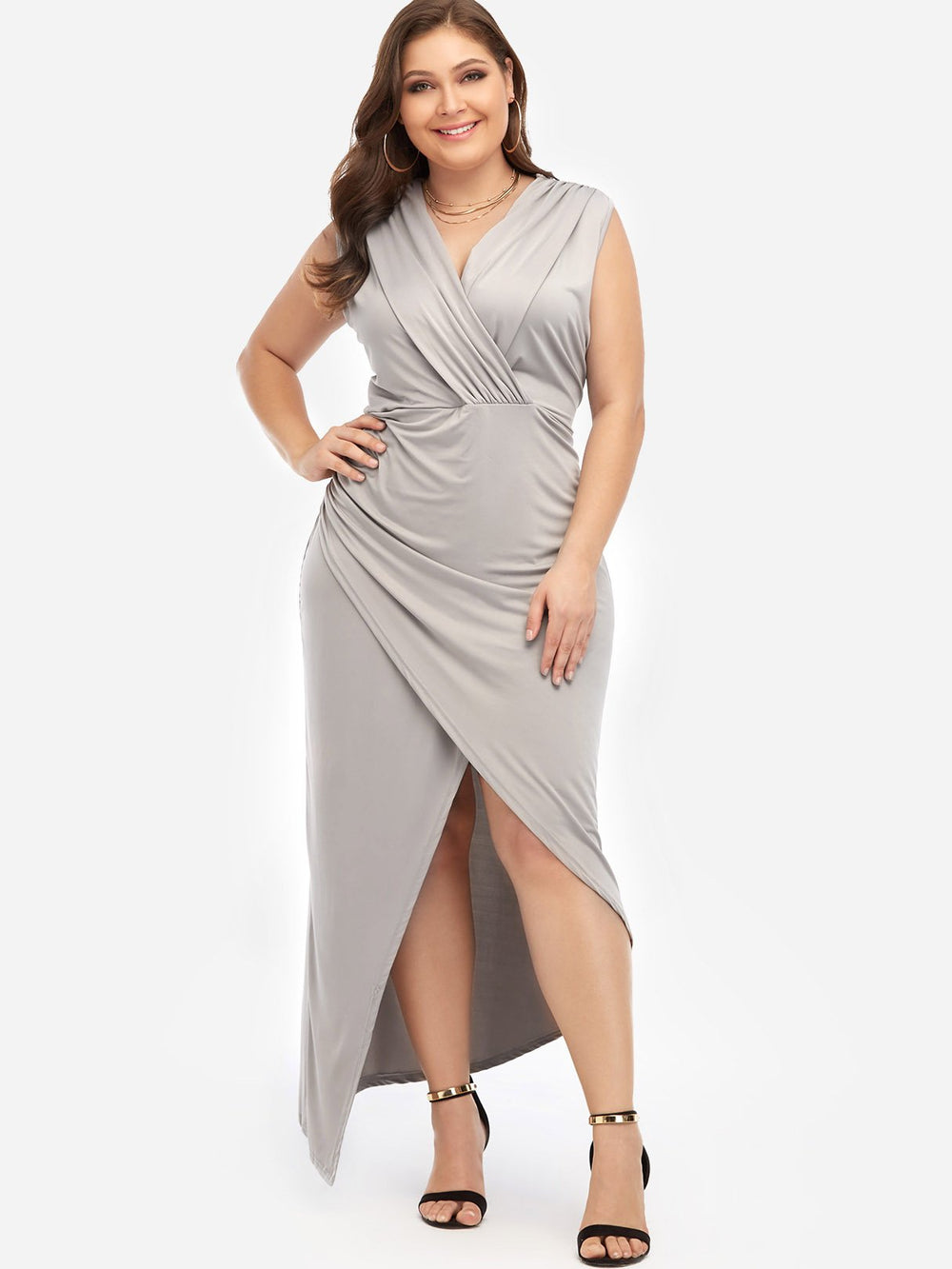 Womens Sleeveless Plus Size Maxi Dresses