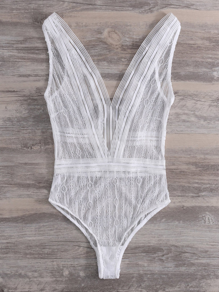 Womens White Bodysuits