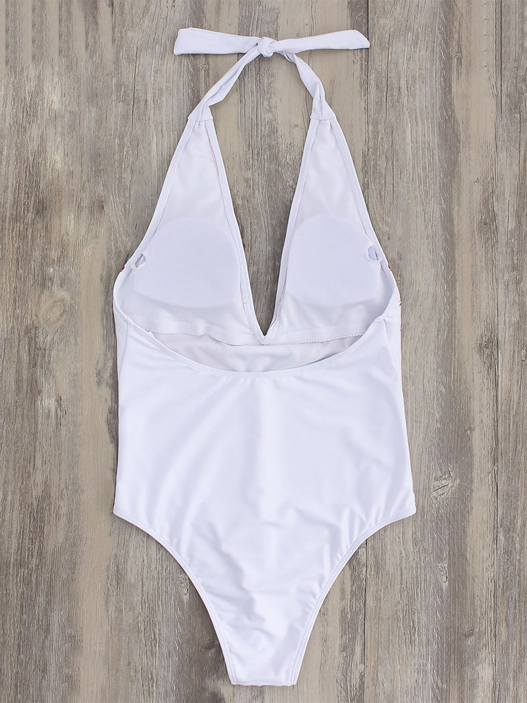 Womens White One-Pieces