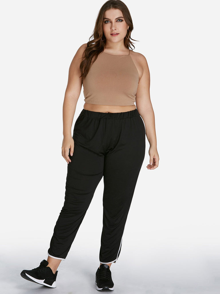 Plus Size Side Stripe Pants