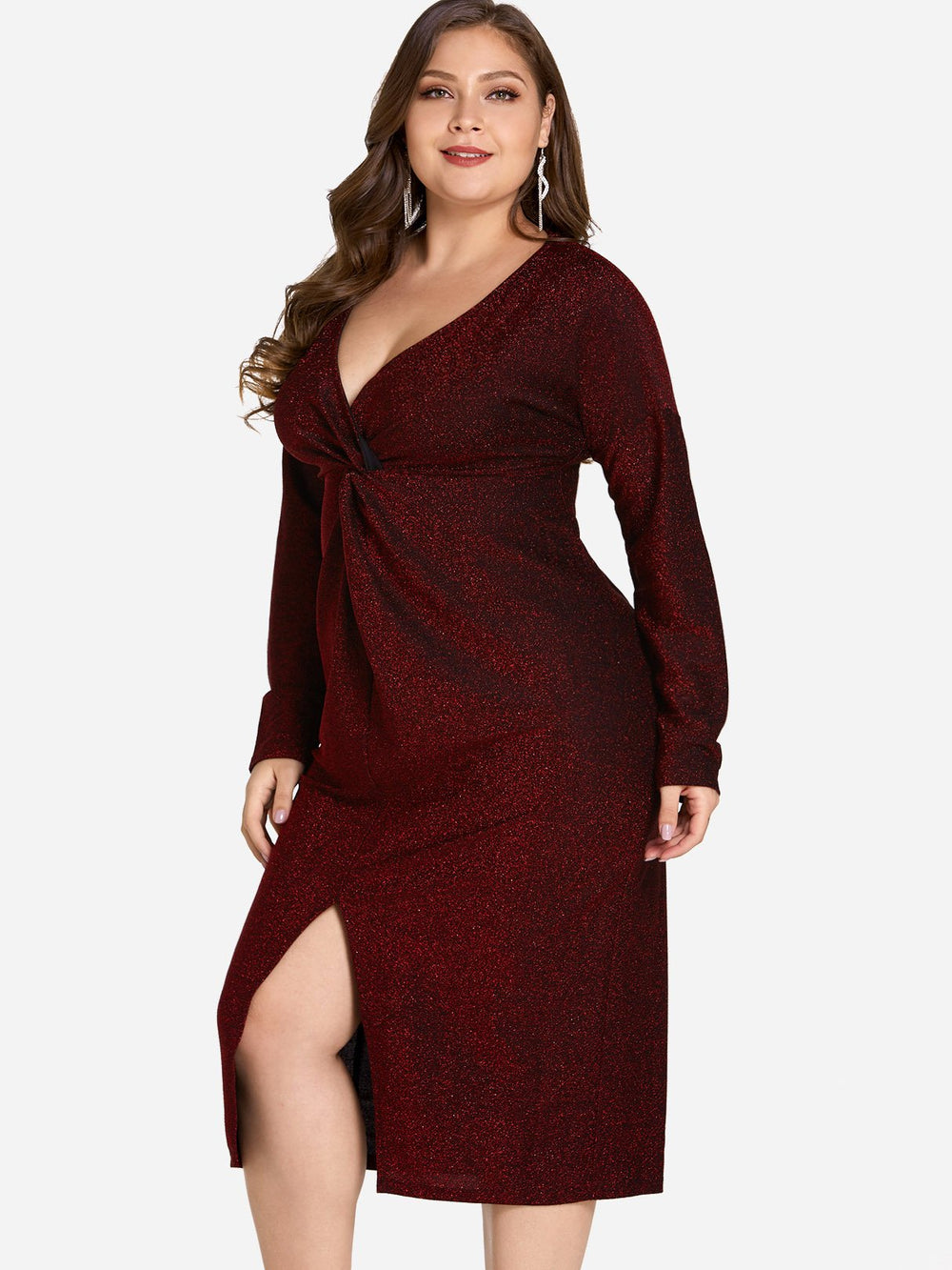 Ladies Long Sleeve Plus Size Dress