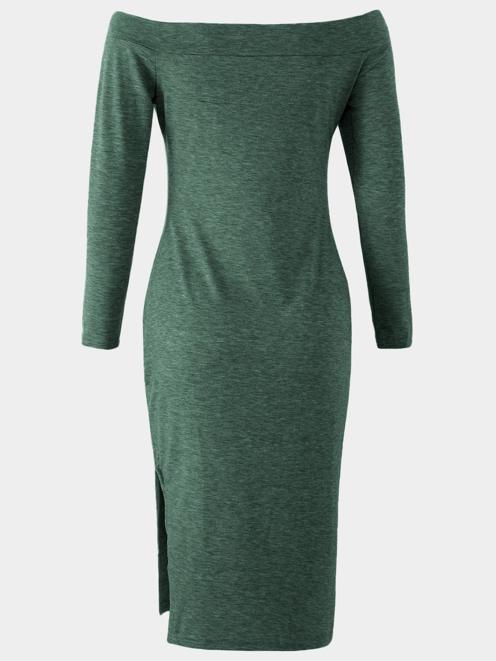 Ladies Green Off The Shoulder Dresses