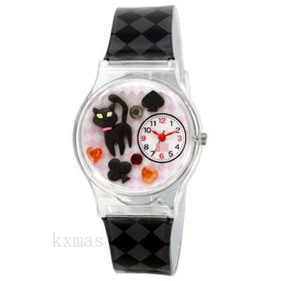 Bargain High Quality PVC Watches Strap AL1203-BK_K0039164