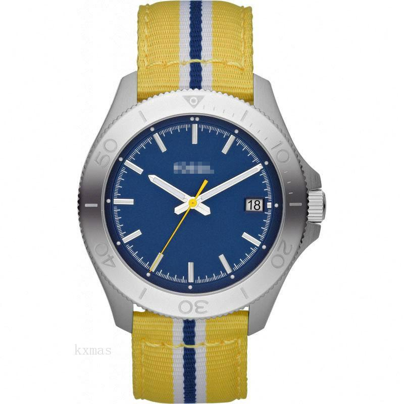 Affordable Good Looking Yellow, white and blue fabric Watch Band Replacement AM4477_K0004790