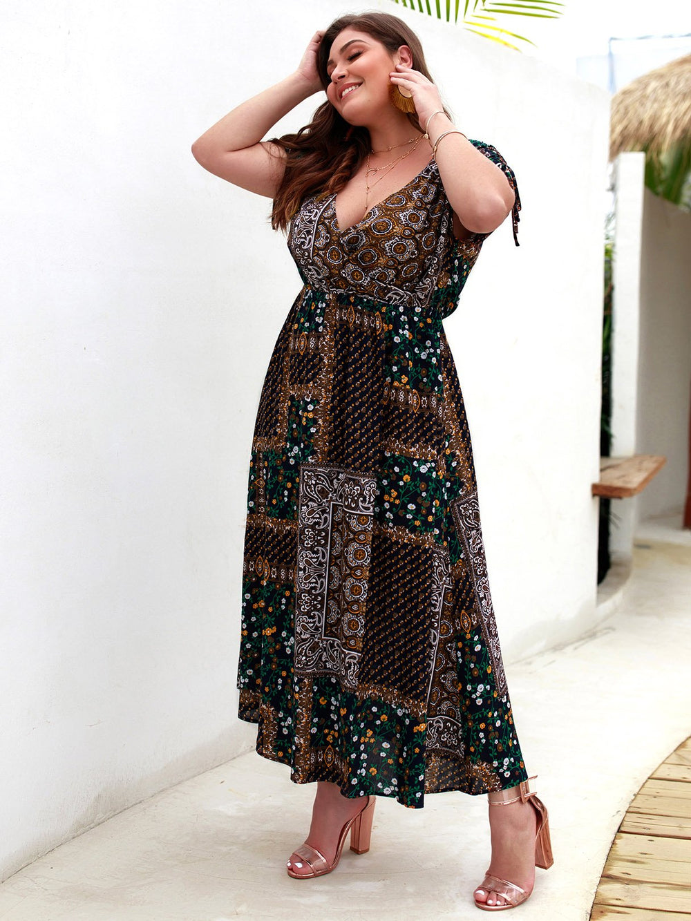 Black N White Plus Size Dresses