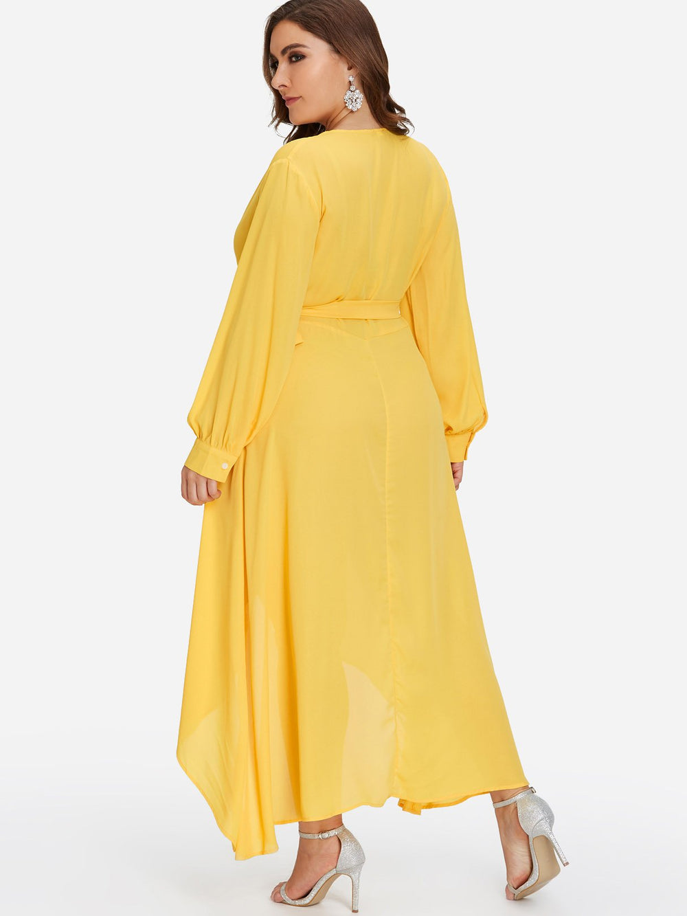 Womens Yellow Plus Size Dresses