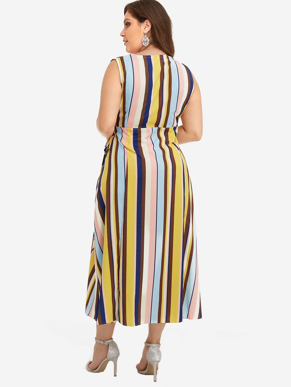 Womens Striped Plus Size Dresses