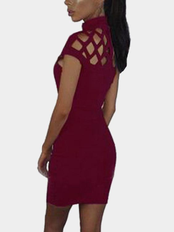 Womens Burgundy Casual Dresses