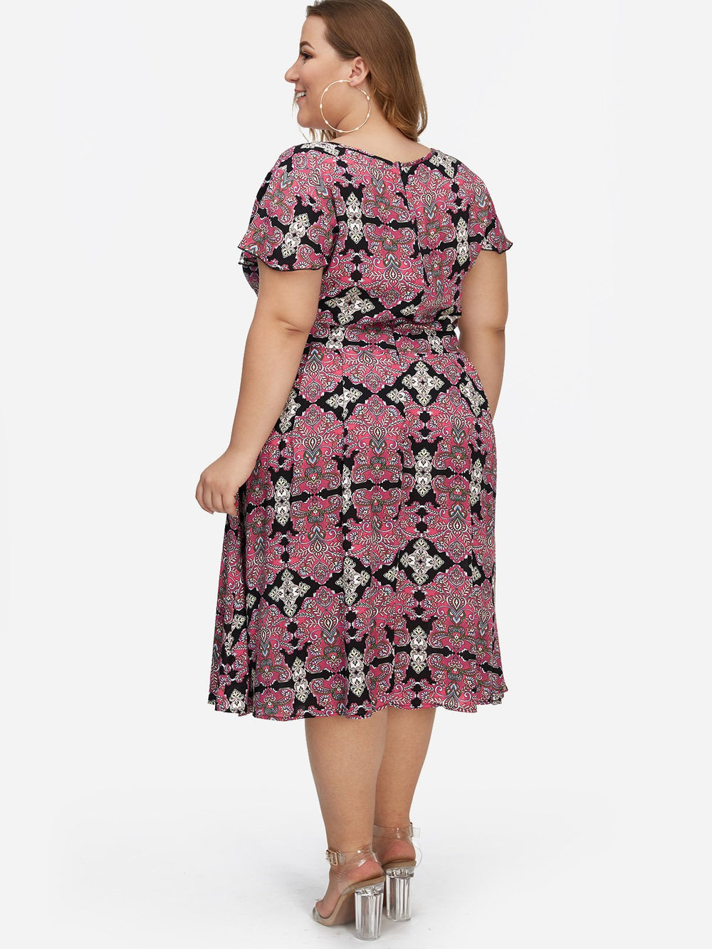 Womens Rose Plus Size Dresses