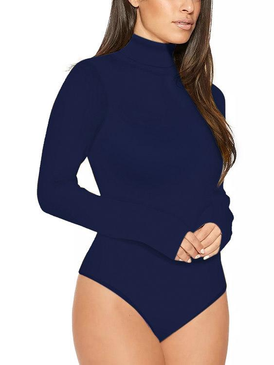 Ladies Navy Bodysuits