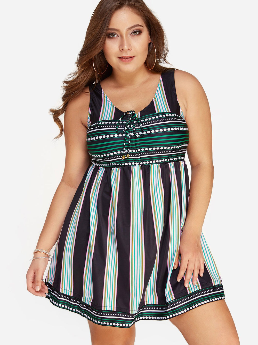 Womens Sleeveless Plus Size Swimwear
