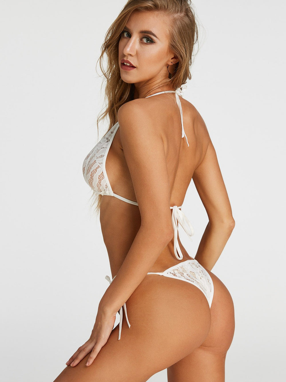 Ladies White Bikinis
