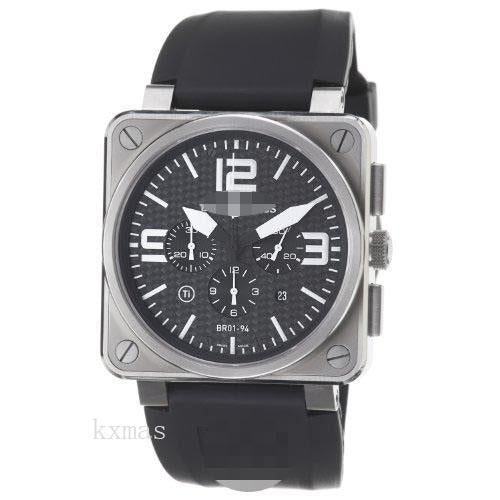 Wholesale Swiss Rubber Watch Wristband BR01-94-Titanium_K0010874