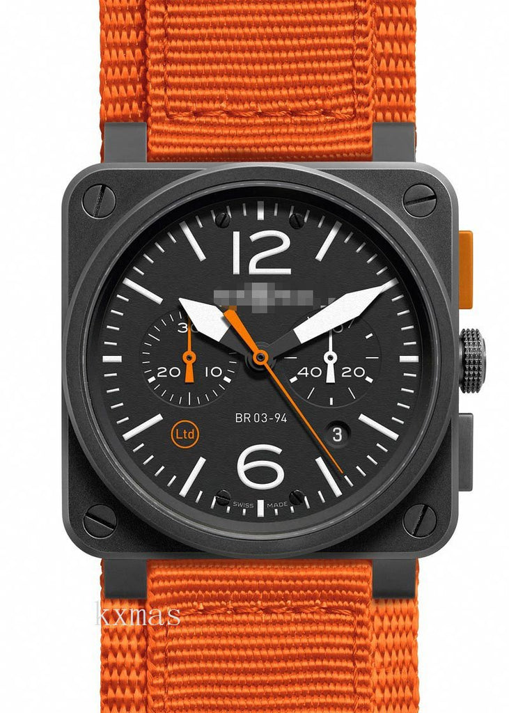 Cheap Good Looking Orange Canvas Watch Band Replacement BR03-94-Carbon-Orange_K0000128