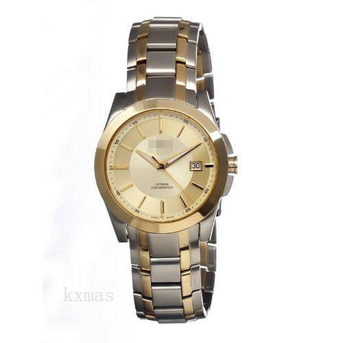 Discount Elegant Twotone Stainless Steel 21 mm Wristwatch Band C4403-2_K0010475