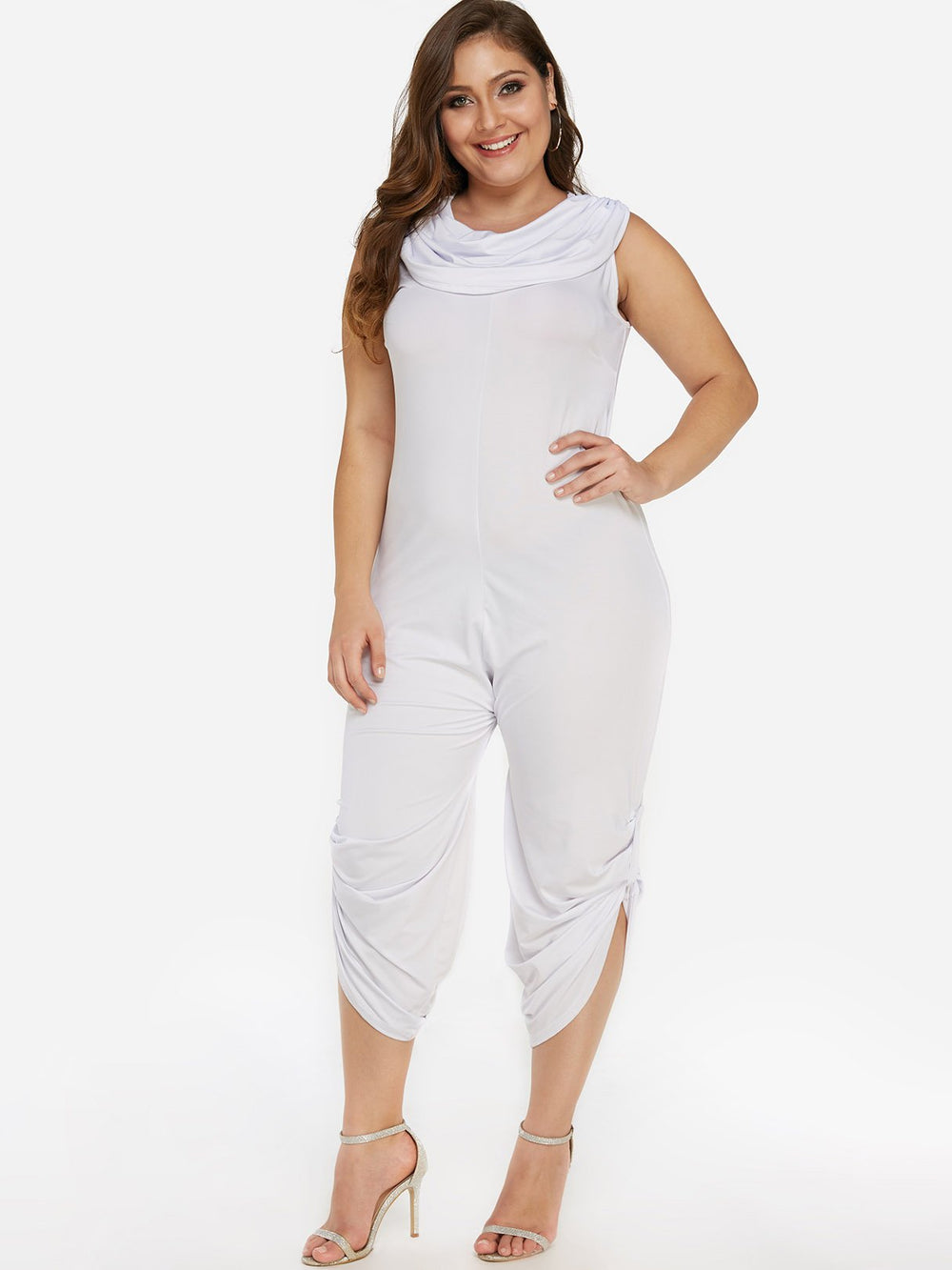 Ladies White Plus Size Bottoms