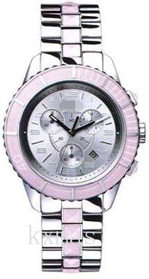 Budget Polished Steel Case And With Pink Sapphire Crystals Watches Strap CD114314M001_K0013091