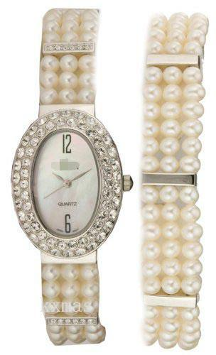 Discount Swiss Pearl 12 mm Watch Strap Replacement CR207520PLMP_K0029724