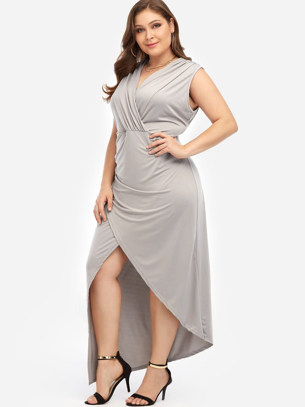 Ladies Grey Plus Size Dresses